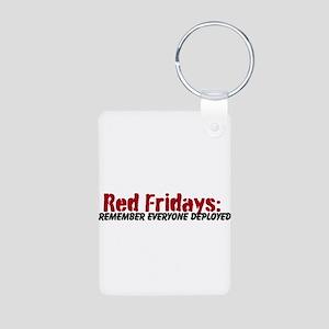 Red Friday Sticker Keychains
