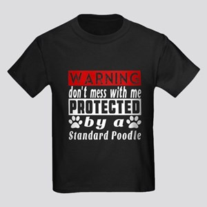 Protected By Standard Poodle Kids Dark T-Shirt
