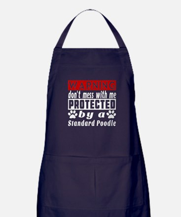 Protected By Standard Poodle Apron (dark)