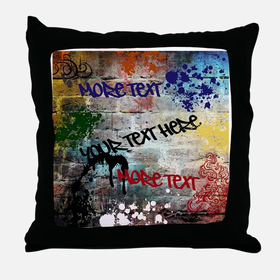 PERSONALIZED - Graffiti Wall * Throw Pillow
