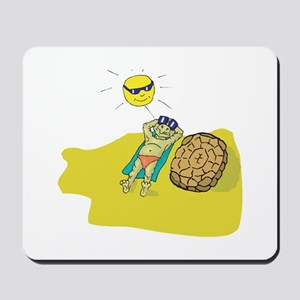 Silly Suntanning Turtle Mousepad