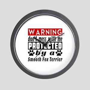 Protected By Smooth Fox Terrier Wall Clock