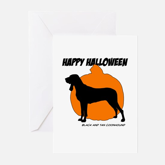 Black and Tan Halloween Greeting Cards (Pk of 10)