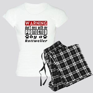 Protected By Rottweiler Women's Light Pajamas