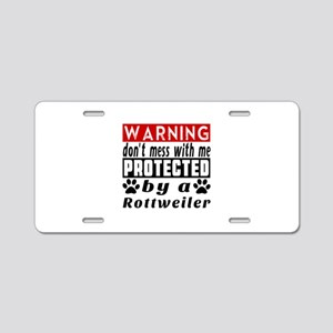 Protected By Rottweiler Aluminum License Plate