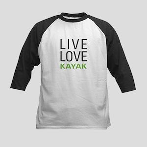 Live Love Kayak Kids Baseball Jersey