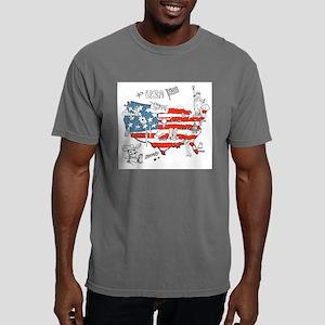 USA Cartoon Places T-Shirt