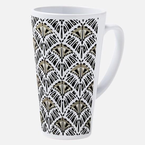 Art Deco Fans 17 Oz Latte Mug