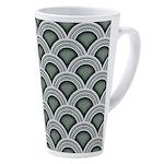 Art Deco Circles 17 Oz Latte Mug