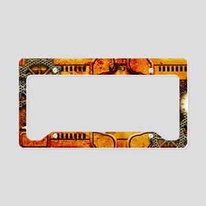 Steampunk , technical design License Plate Holder