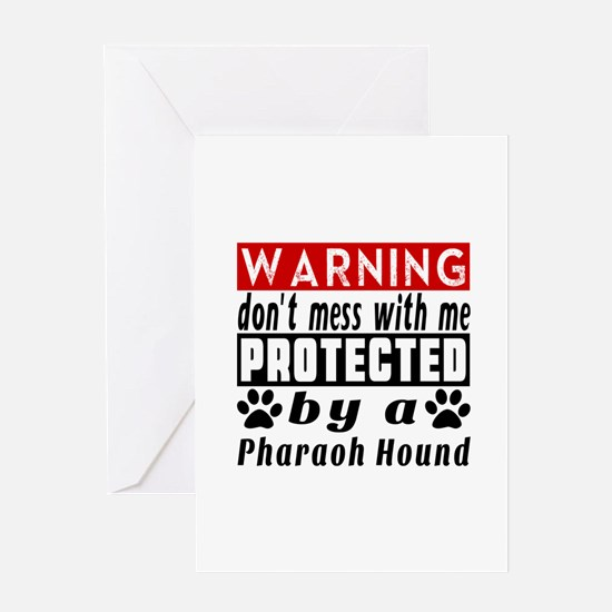 Protected By Pharaoh Hound Greeting Card