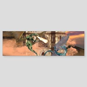 The dragon fight Bumper Sticker