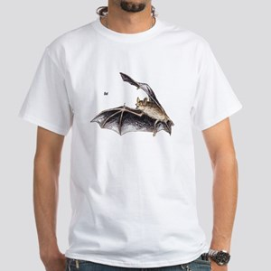 Bat for Bat Lovers (Front) White T-Shirt