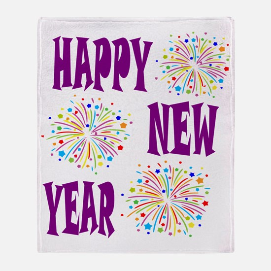 Funny New years Throw Blanket