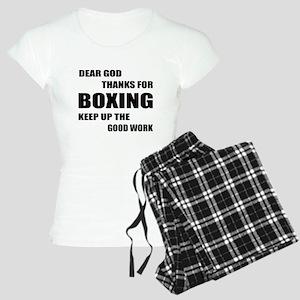 Dear God Thanks For Boxing Women's Light Pajamas