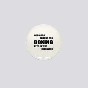 Dear God Thanks For Boxing Mini Button