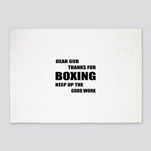 Dear God Thanks For Boxing 5'x7'Area Rug
