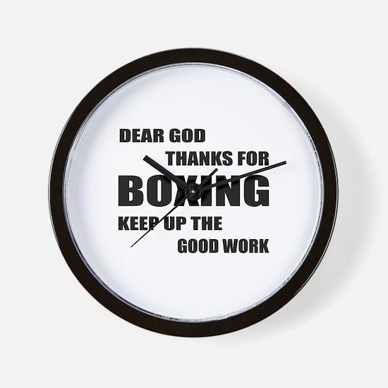 Dear God Thanks For Boxing Wall Clock