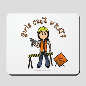 Light Construction Worker Mousepad
