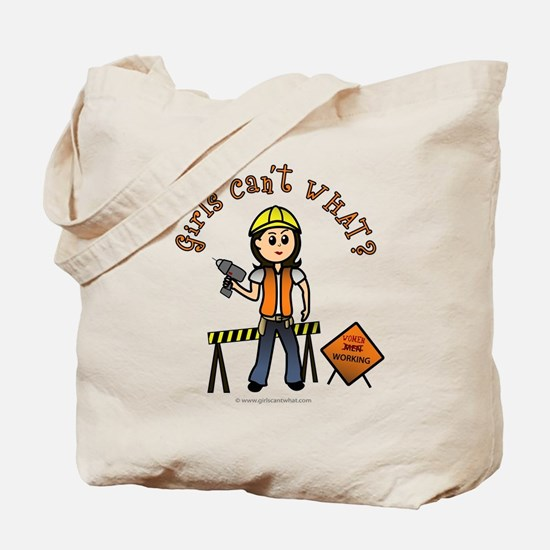 Light Construction Worker Tote Bag