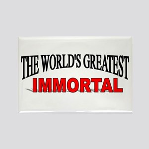 """""""The World's Greatest Immortal"""" Rectangle Magnet"""