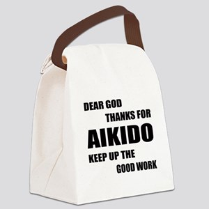 Dear God Thanks For Aikido Canvas Lunch Bag
