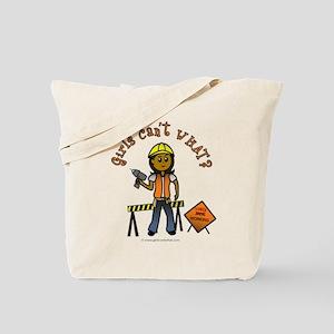 Dark Construction Worker Tote Bag