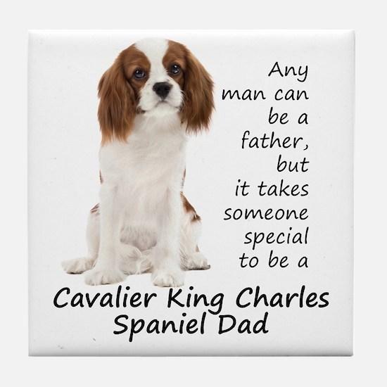 Spaniel Dad Tile Coaster