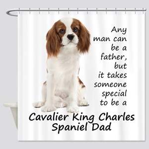 Spaniel Dad Shower Curtain