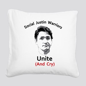 Social justice warrior Square Canvas Pillow