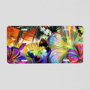 Tropical Butterflies Aluminum License Plate