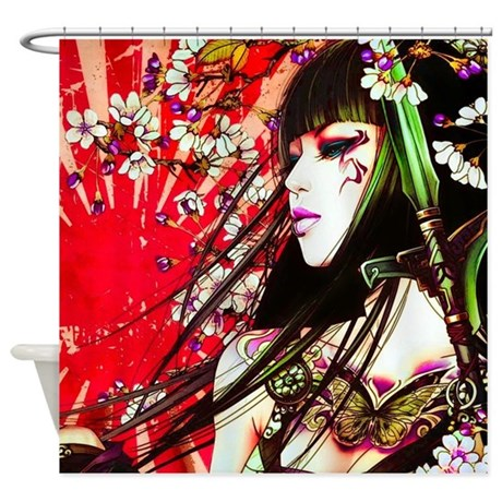 Geisha Shower Curtain By WickedDesigns4