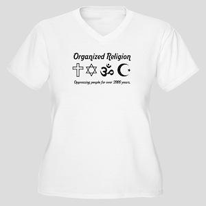 Organized Religion Women's Plus Size V-Neck T-Shir