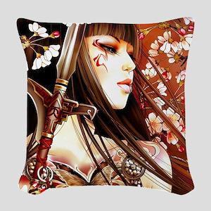 Geisha Woven Throw Pillow