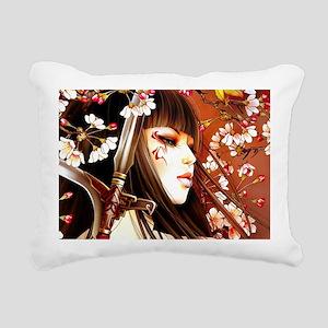 Geisha Rectangular Canvas Pillow