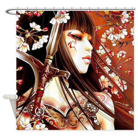 Geisha Shower Curtain By WickedDesigns4