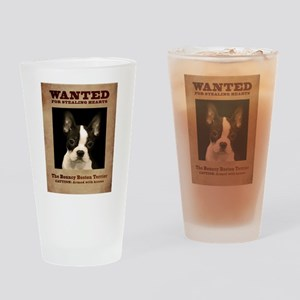 WANTED: The Bouncy Boston Terrier Drinking Glass