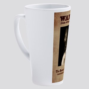 WANTED: The Bouncy Boston Terrier 17 oz Latte Mug