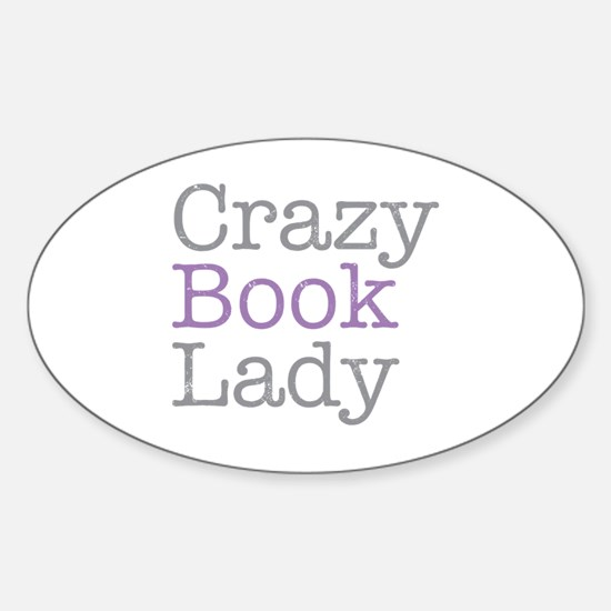 Cute Funny librarian Sticker (Oval)