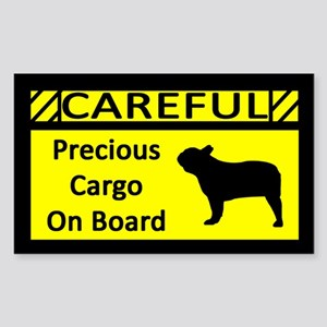Precious Cargo French Bulldog Sticker (Rect)
