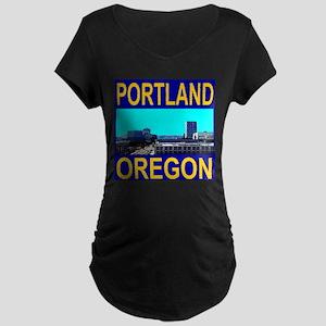 Portland, Oregon Maternity Dark T-Shirt