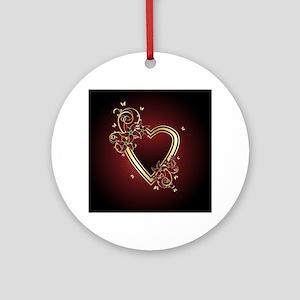 Classic Heart Round Ornament