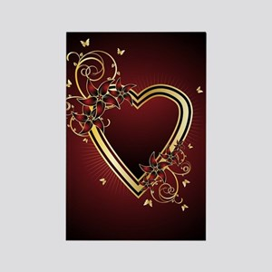 Classic Heart Rectangle Magnet