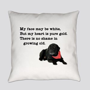 Old Black Lab Everyday Pillow