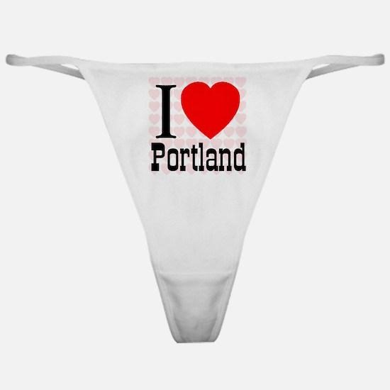I Love Portland Classic Thong