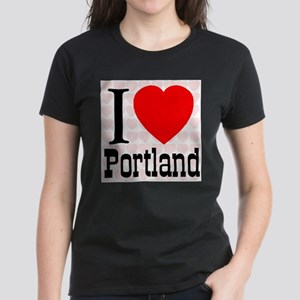 I Love Portland Women's Dark T-Shirt