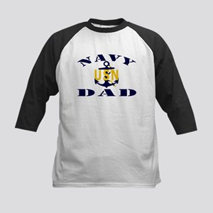 NAVY DAD Kids Baseball Jersey