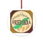 Fried Okra  Ornament (Round)