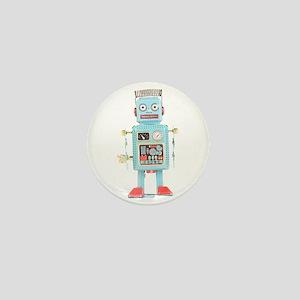 Classic Tin Robot Mini Button