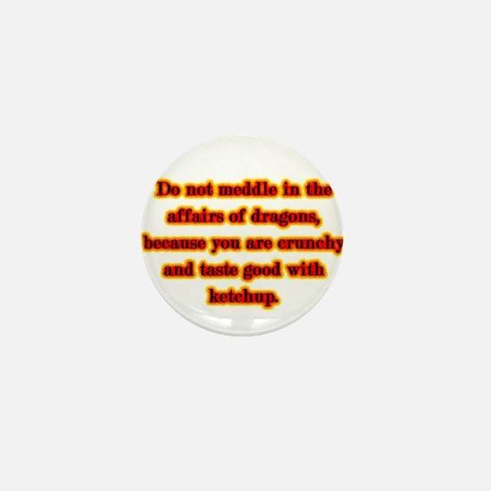 Dragon Warning Mini Button